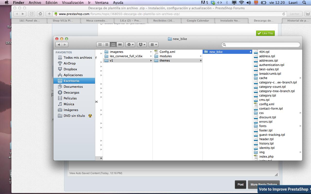 Descarga de plantilla sin archivo .zip - PrestaShop Download ...
