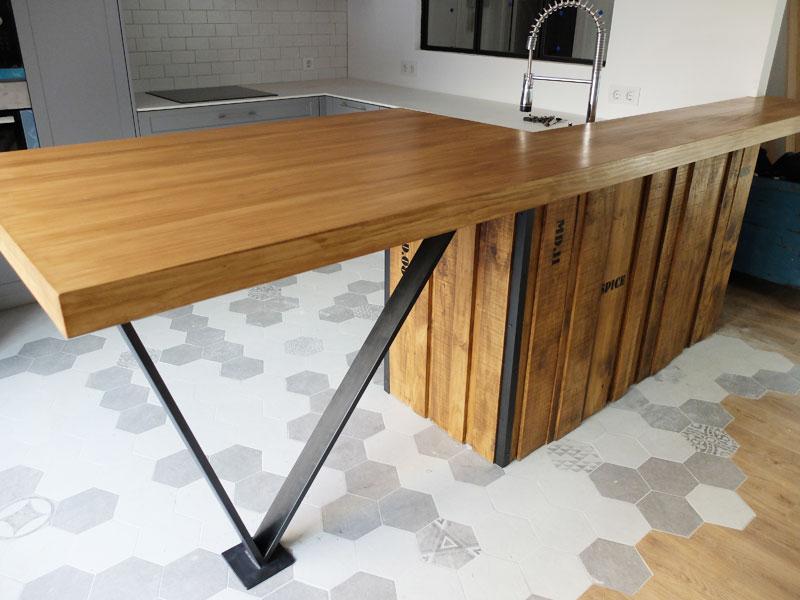 Barra cocina madera stunning barras de cocina rusticas de - Barra cocina madera ...