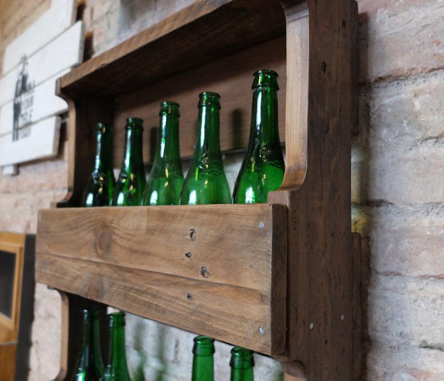 Botellero hecho con palets top perfect decoracin con - Botelleros de obra ...
