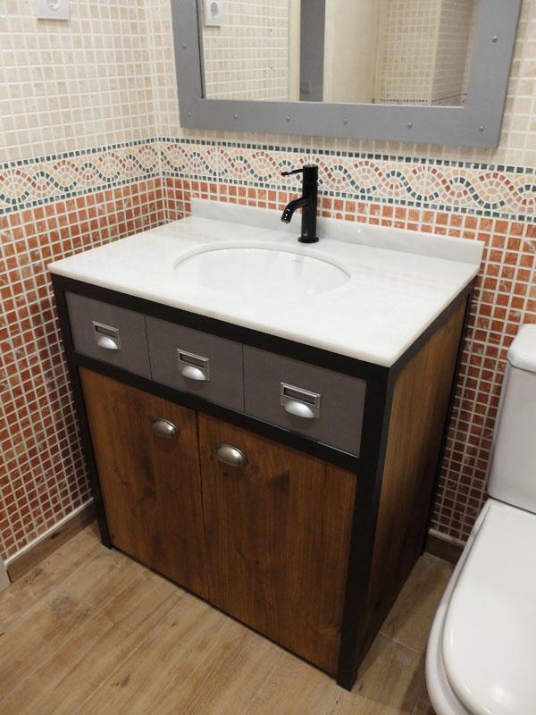 Muebles a medida dise o personalizado regalos for Mueble lavabo madera