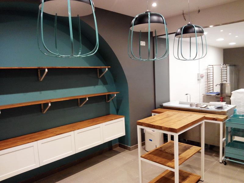 Muebles hierro y madera tienda online american village for Muebles en hierro