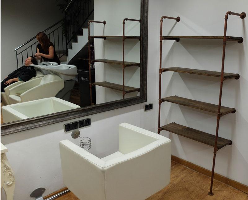 R tulos de madera barcelona mostradores de madera barcelona muebles madera y hierro - Muebles estanterias de madera ...