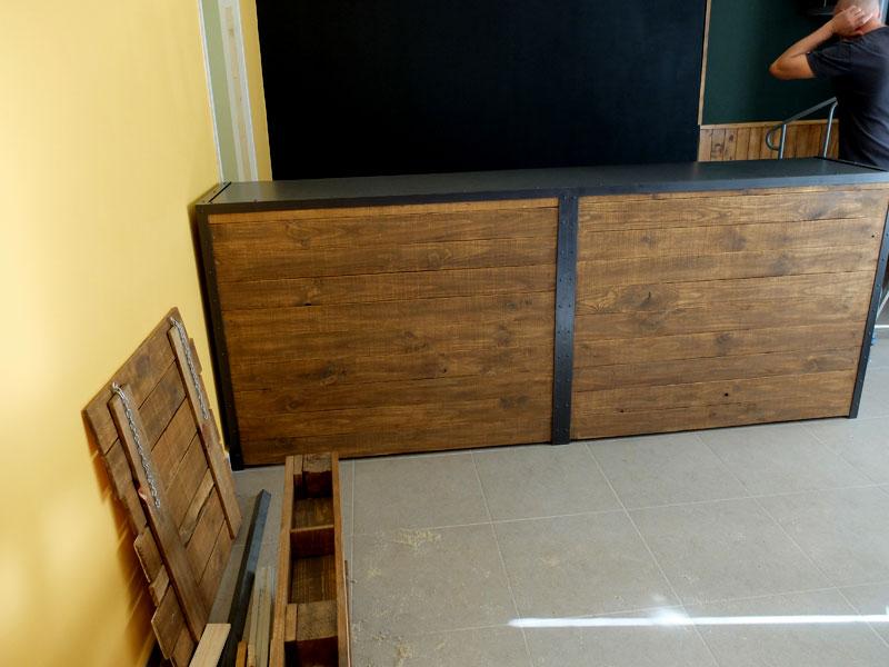 Barras de madera para bar ejemplo de bar en casa con barra de bar de galera de tamao fotos de - Barras de madera ...