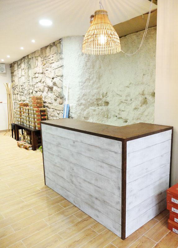 mostrador madera y hierro barcelona - Muebles Con Palets